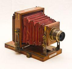 Old antique camera: The Special Instantograph Patent Camera (Brass bound) c1892 J. Lancaster & Son, Birmingham, England.