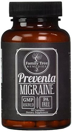 Preventa Migraine- with PA Free Butterbur Root, Magnesium, Riboflavin, - Family Tree Remedies
