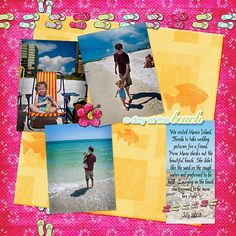 Fun Scrapbook Layout Ideas | ... chantelg4.hubpages.com/hub/Free-Beach-Vacation-Scrapbook-Layout-Ideas