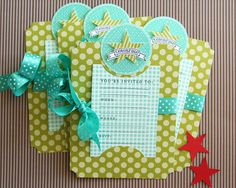 Invitations by Danielle Flanders for Papertrey Ink (March 2012)