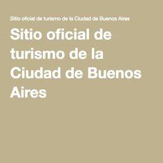 Sitio oficial de turismo de la Ciudad de Buenos Aires
