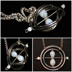 DIY Revolving Time Turner Necklace by Sunny at Cut Out + Keep.This tutorial is rated 2 out of 5 in difficulty and takes about 40 minutes to make.…