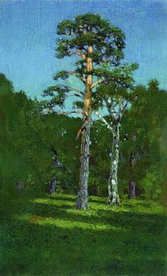 Pin-arbre, huile de Arkhip Ivanovich Kuinji (1842-1910, Russia)
