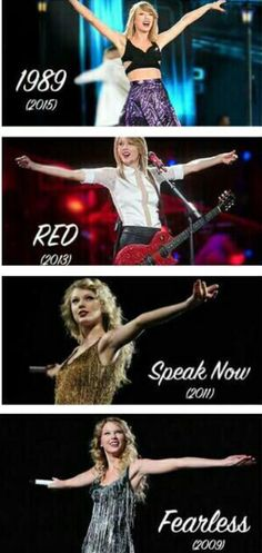 1989, red, speak now and fearless are all Taylor swift tours!  Which one was the best?