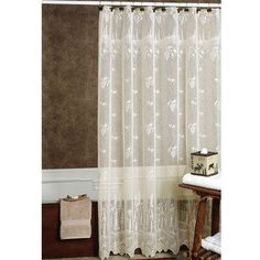 Pine Cone Lace Shower Curtain #remodelingbathroomideas