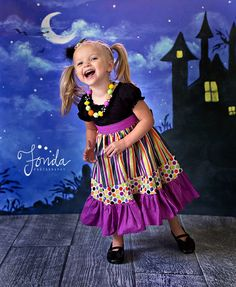 The Sabrina Halloween dress for girls by amysbuttonsandbows, $50.00