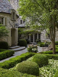 Lake Forest, IL Residence, Entry Courtyard French Country Architectural Details Front Facade Entryway Architectural Detail by RJA Design Inc