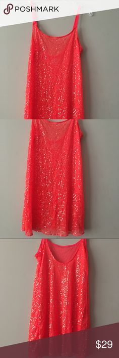 Free People Intimately Sequin Mesh Size Small Free People Intimately  Tank Sequin Stretch Mesh Spaghetti Strap Size Small Free People Intimates & Sleepwear Chemises & Slips