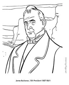 john quincy adams see more james buchanan us president coloring page