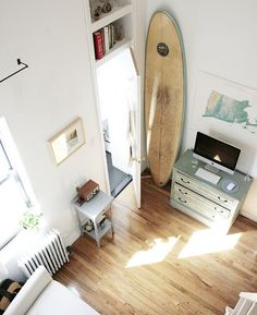 Tips on tiny apartment living. She has 250 sq ft. I have (a bit) more. Living small encourages deliberate choices about what to bring into your home-- which is useful for everyone to think about.