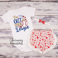 fbe709e7657a I m Out of Your League Glitter Top and Ruffled Shorts Outfit - Baby Girl