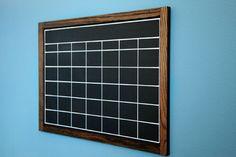DIY chalkboard with mdf, wood trim and chalkboard paint. Smart.