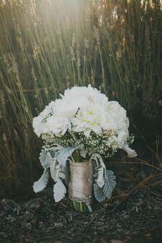 Highland Springs Resort Wedding     White Wedding  Bouquet  www.brettandtori.com