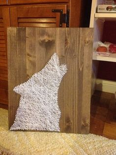 Howling Wolf String Art by GrizzlyandCo on Etsy, $55.00