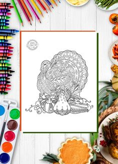 Thanksgiving Activities: Free Turkey Zentangle Coloring Page!
