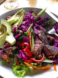 Salads with meat and... avocado?