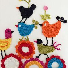 #June , let's sing! #birds #birdy #singbird #flowers #summertime #crocheting #virkkaus #freeformcrochet #crochetlove #crocheted #crochetfun #colours #instacrochet #crocheterofinstagram #birdsofinstagram