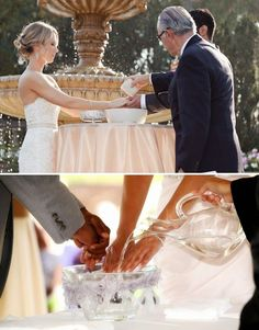 Hand washing Unity Ceremony to do before vows as a cleaning of wrong doings and  the past and a new start as couple