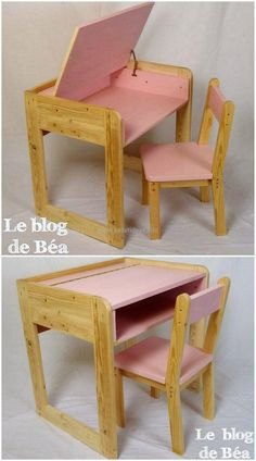 This is another outstanding wood pallet creation. This study desk is made of recycled pallets wood. We have further decorated it with pink color paint to give it a feminine look. This beautiful creation is also perfect to craft with your school and college furniture.