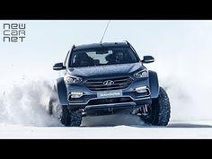 NEWCARNET - A modified Hyundai Santa Fe has become the first passenger vehicle to be driven across Antarctica. Roald Amundsen, Santa Fe Sport, First Car, Latest Cars, Car Videos, Modified Cars, Antarctica, Fes, Tucson