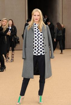 17th February 2014. The Burberry Prorsum fashion show held at Kensington Gardens during London Fashion Week.Here, Poppy Delevingne.