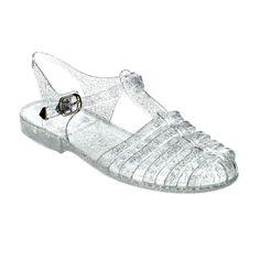 a800439468778f FOREVER JEDI-28 Women s T-Strap Retro Rain Jelly Flat Sandals