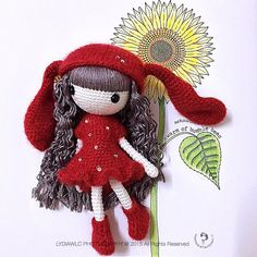 My Q Doll no.2 @ Rabbit Girl  with Sunflower  (cute doll is designed by @stup1da_ )