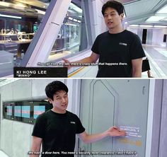 Ki Hong Lee on the set of The Death Cure