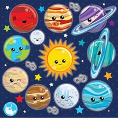 BUY 10 GET 10 OFF - Solar system clipart commercial use planets vector graphics Space clipart kawaii clip art digital images - by Prettygrafikdesign Space Party, Space Theme, Solar System Clipart, Kawaii, Planet Vector, Image Paper, Astronomy, Cosmos, Craft Projects