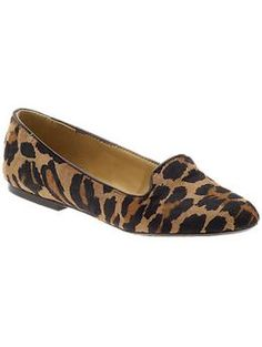 :: leopard smoking slipper loafer ::