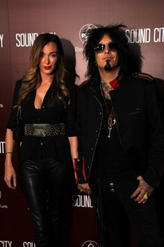 In love with this picture of Nikki and Courtney Sixx. Both so beautiful.