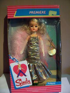 SINDY PREMIER DOLL 1985 NRFB 103.08+8 Sindy Doll, Doll Toys, Old Dolls, Antique Dolls, Vintage Barbie, Vintage Dolls, Vintage Children, My Children, Tammy Doll