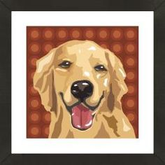 @Overstock - This framed dog print includes a high quality giclee print photo of a Golden Retriever presented in a black frame. This photo features white matting, is officially licensed, and UV glass to protect against sunlight.http://www.overstock.com/Sports-Toys/Framed-Golden-Retriever-Giclee-Print-Photo/6742964/product.html?CID=214117 $169.99