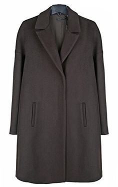 569359c335c Elie Tahari Woman s Louisa Chocolate Brown Wool Blend Plus Size Coat Xl 1xl  2xl http