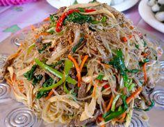 Korean jap che Korean cool noodles