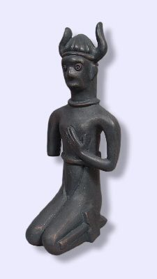 """Happy Tuesday!!! (Glædelig Tirsdag!!!) After looking at representations of the Norse deities on the show Vikings, I thought it might be interesting to look at some authentic ancient depictions. Norse Tyr statue. Replica of a bronze statue, circa 200 BCE, from Zealand, Denmark. Which is pre-Viking. Did they even have """"Tyr"""" then or a deity with similar attributes or a similar legend? On the other hand, there is speculation that Tyr was the orginal ruler of the Norse gods. Odin came later."""