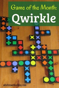 Family Games: Qwirkle is a fun strategic family game