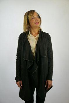 Kardigan czarny, narzutka, Kreator Studio Mody, rozmiar XL
