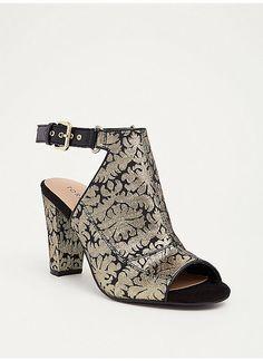 TORRID : Brocade Ankle Strap Heels (Wide Width)