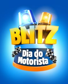 Proposta Marca Blitz Dia do Motorista 3d Design, Game Design, Logo Design, Graphic Design, 3d Poster, 3d Type, Campaign Logo, 3d Artwork, Label Templates