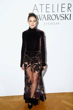 Olivia Palermo attends the Swarovski Eyewear Diner as part of Paris Fashion Week at Hotel Crillon on January 22 2018 in Paris France