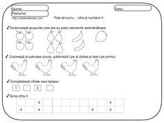 Fise de lucru pentru numerele si cifrele 1-10. – Catalina Bîrsan Math Equations, Diy, Bebe, Bricolage, Do It Yourself, Homemade, Diys, Crafting