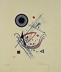 Painter Wassily Kandinsky. Blue. 1922