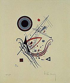 Painter Wassily Kandinsky. Blue. 1922