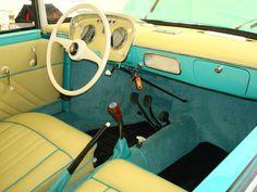 Ghia-bodied VW: interior.