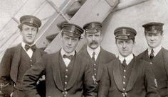 These are some of the members of the Titanic band.  Some pretty brave men.