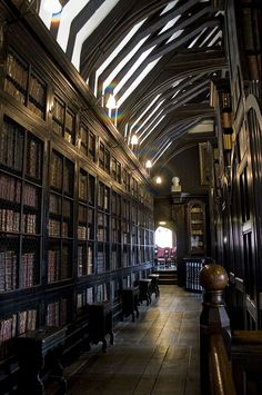 The interior of Chetham's Library in Manchester, England; the oldest library in the country. Looking at all those books makes me hungry. <--us too!!-->