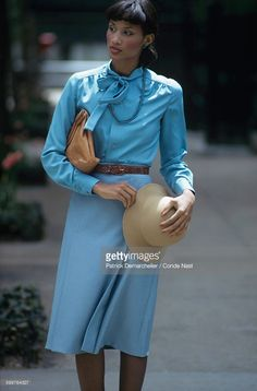 News Photo : Model Beverly Johnson walking down the street...
