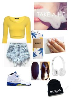 """""""""""Where im from , we live for the love die for the love""""- Jhene Aiko"""" by laniiekay ❤ liked on Polyvore featuring Levi's, Jane Norman, HUF, Beats by Dr. Dre, NIKE, women's clothing, women's fashion, women, female and woman"""