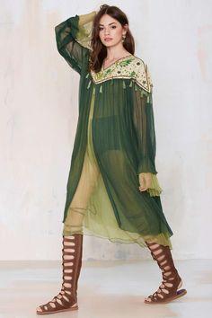 Vintage Adonis Beaded Chiffon Dress